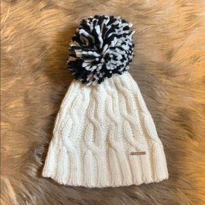 Nine West Women's Winter Cable Knit Pom Hat